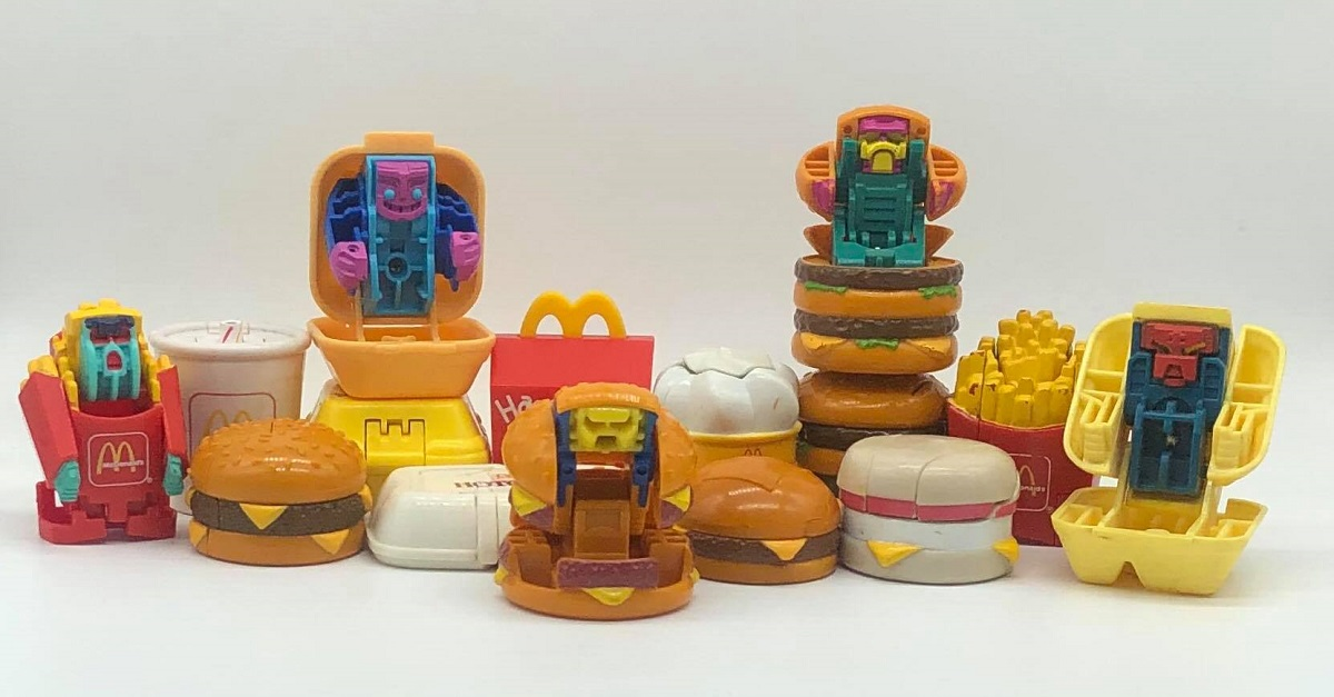 MULTI-LISTING McDonalds Happy Meal Food Changeables Action Figures Transformers